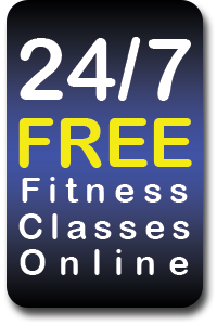 Small 24 7 fitness banner