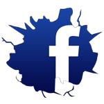 facebook logo small cracked
